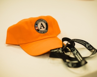 Picture of AmeriCorps hat and lanyard